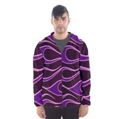 Bright Purple Flag Hooded Wind Breaker (men)