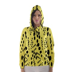 Circular Dot Selections Circle Yellow Hooded Wind Breaker (women)
