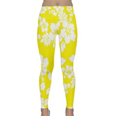 Hawaiian Flowers Classic Yoga Leggings by AnjaniArt