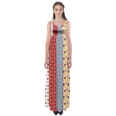 Love Heart Cake Valentine Red Gray Blue Pink Empire Waist Maxi Dress