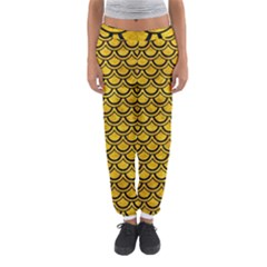 Scales2 Black Marble & Yellow Marble (r) Women s Jogger Sweatpants by trendistuff