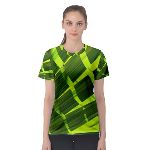 Frond Leaves Tropical Nature Plant Women s Sport Mesh Tee by Amaryn4rt