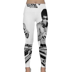 Bruce Lee Dj Classic Yoga Leggings by offbeatzombie