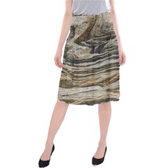 Rock Texture Background Stone Midi Beach Skirt by Amaryn4rt
