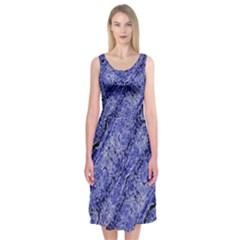 Texture Blue Neon Brick Diagonal Midi Sleeveless Dress by Amaryn4rt