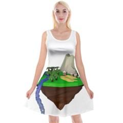Low Poly 3d Render Polygon Reversible Velvet Sleeveless Dress by Amaryn4rt