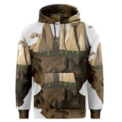 Low Poly Floating Island 3d Render Men s Pullover Hoodie by Amaryn4rt