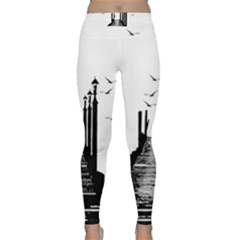 The Pier The Seagulls Sea Graphics Classic Yoga Leggings by Amaryn4rt