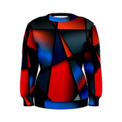 3d And Abstract Women s Sweatshirt by Nexatart