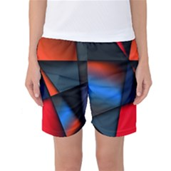 3d And Abstract Women s Basketball Shorts by Nexatart