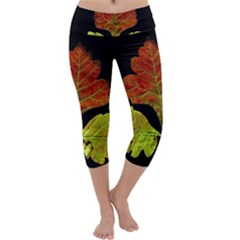 Autumn Beauty Capri Yoga Leggings by Nexatart