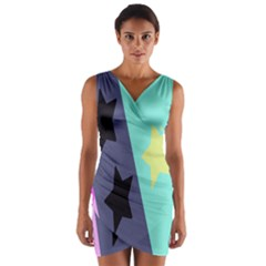 Cool Star Flag Wrap Front Bodycon Dress by Jojostore