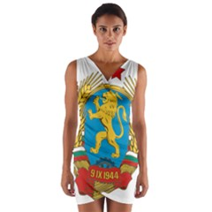 Coat Of Arms Of Bulgaria (1948 1968) Wrap Front Bodycon Dress by abbeyz71