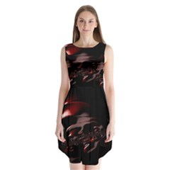 Fractal Mathematics Abstract Sleeveless Chiffon Dress   by Nexatart