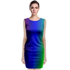 Graphics Gradient Colors Texture Classic Sleeveless Midi Dress by Nexatart