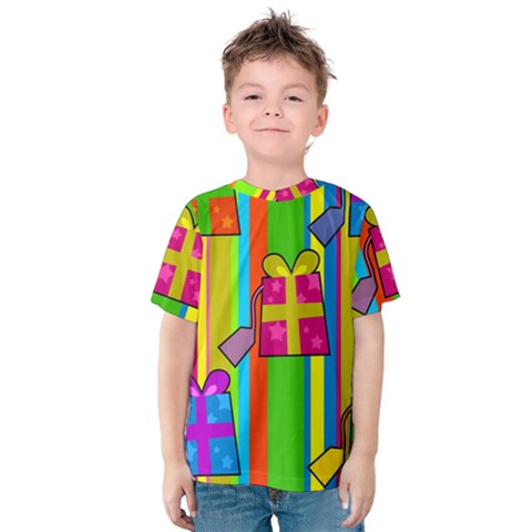 Holiday Gifts Kids  Cotton Tee by Nexatart