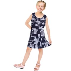 Noise Texture Graphics Generated Kids  Tunic Dress by Nexatart