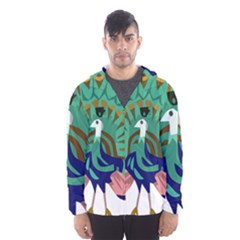 Burma Green Peacock National Symbol  Hooded Wind Breaker (men) by abbeyz71