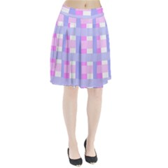 Gingham Checkered Texture Pattern Pleated Skirt by Nexatart