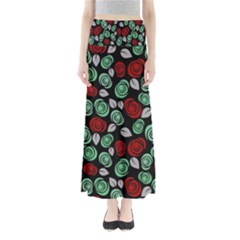 Decorative Floral Pattern Maxi Skirts by Valentinaart