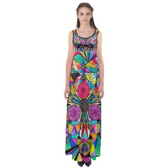 Positive Intention - Empire Waist Maxi Dress by tealswan