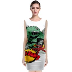 Monster Classic Sleeveless Midi Dress by Nexatart
