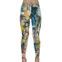 Art Graffiti Abstract Lines Classic Yoga Leggings by Nexatart