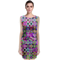 Design Circles Circular Background Classic Sleeveless Midi Dress by Nexatart