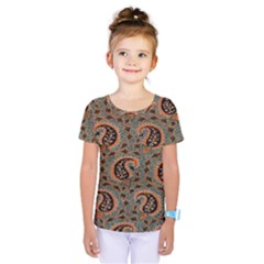 Persian Silk Brocade Kids  One Piece Tee