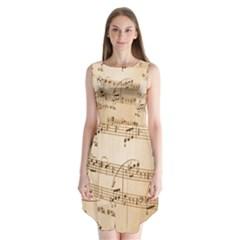 Music Notes Background Sleeveless Chiffon Dress   by Nexatart