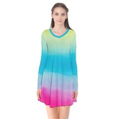 Watercolour Gradient Flare Dress by Nexatart