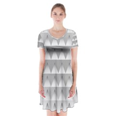 Pattern Retro Background Texture Short Sleeve V Neck Flare Dress by Nexatart