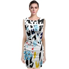 Abstraction Classic Sleeveless Midi Dress by Valentinaart