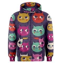 Colorful Kitties Men s Zipper Hoodie