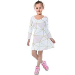 Cracked Kids  Long Sleeve Velvet Dress by Brittlevirginclothing