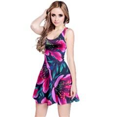 Purple Flowers Reversible Sleeveless Dress