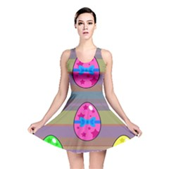 Holidays Occasions Easter Eggs Reversible Skater Dress