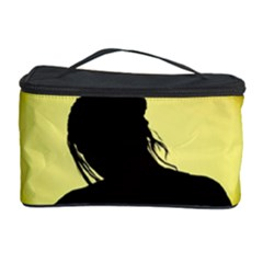 Silhouette Woman Meditation Cosmetic Storage Case by Nexatart