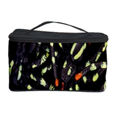 Spiders Background Cosmetic Storage Case by Nexatart