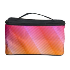 Pattern Background Pink Orange Cosmetic Storage Case by Nexatart