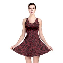 Red Coral Pattern Reversible Skater Dress by Valentinaart