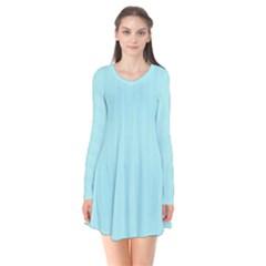 Light Blue Texture Flare Dress by Valentinaart