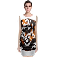 Ornament Dragons Chinese Art Classic Sleeveless Midi Dress by Nexatart