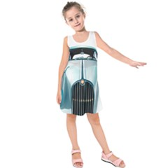 Oldtimer Car Vintage Automobile Kids  Sleeveless Dress