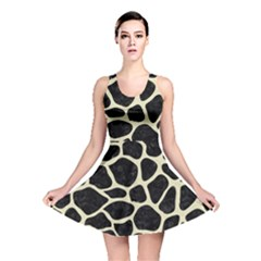 Skin1 Black Marble & Beige Linen (r) Reversible Skater Dress by trendistuff