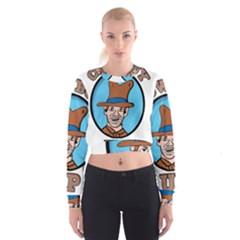 Cowboy Up Women s Cropped Sweatshirt by EricsDesignz