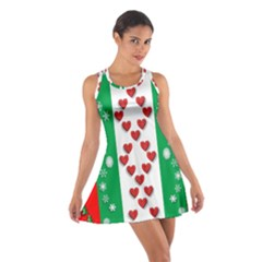 Christmas Snowflakes Christmas Trees Cotton Racerback Dress
