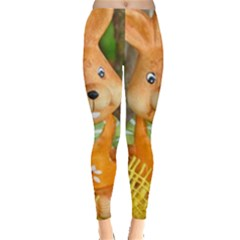 Easter Hare Easter Bunny Leggings  by Nexatart