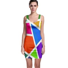 Geometric Blocks Sleeveless Bodycon Dress by Nexatart