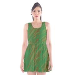 Brown Green Texture                                                  Scoop Neck Skater Dress by LalyLauraFLM
